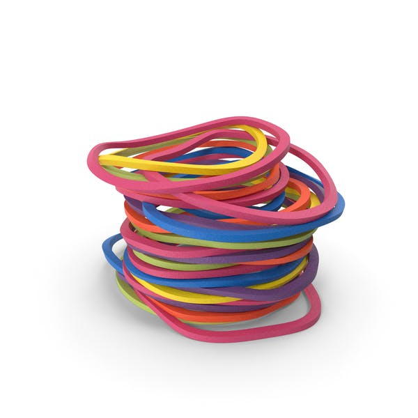 Stack of Colorful Rubber Bands