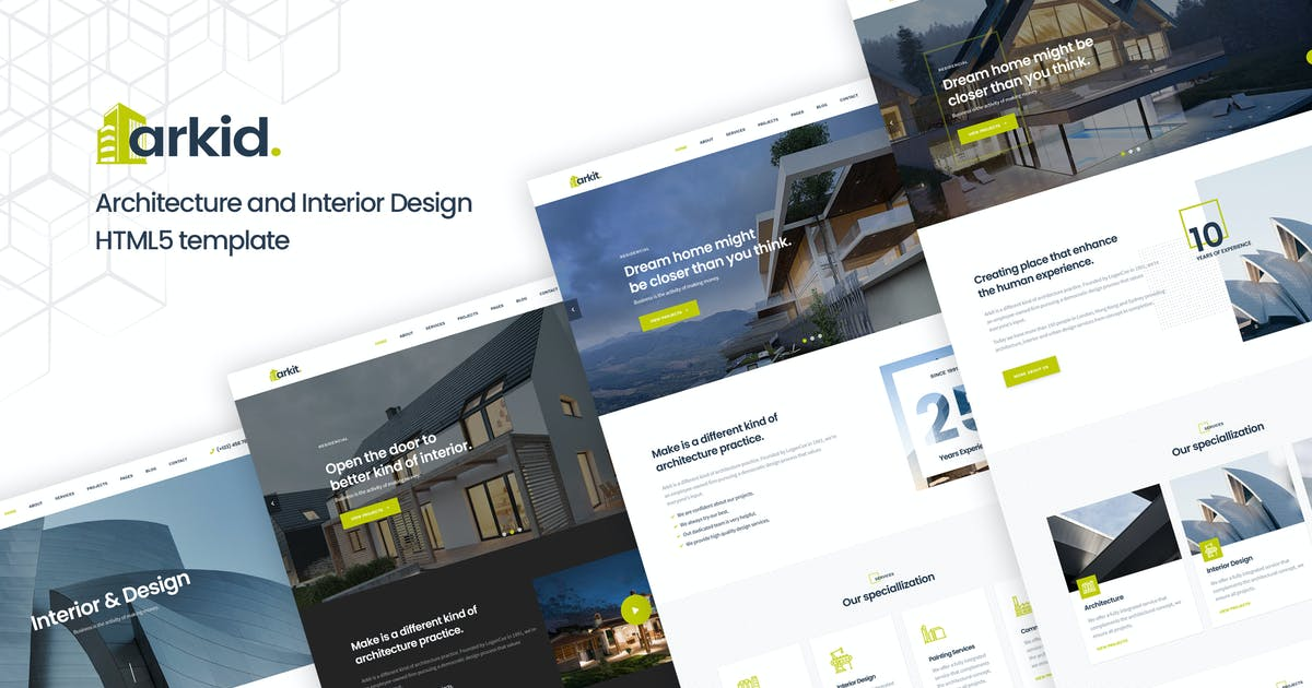 Download Arkit - Architecture & Interior HTML Template by DynamicLayers