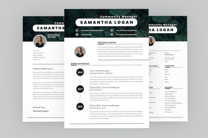 Thumbnail for Community Manager Resume Designer