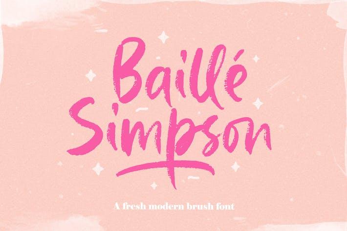 Thumbnail for Baille Simpson - Script Pinceau moderne