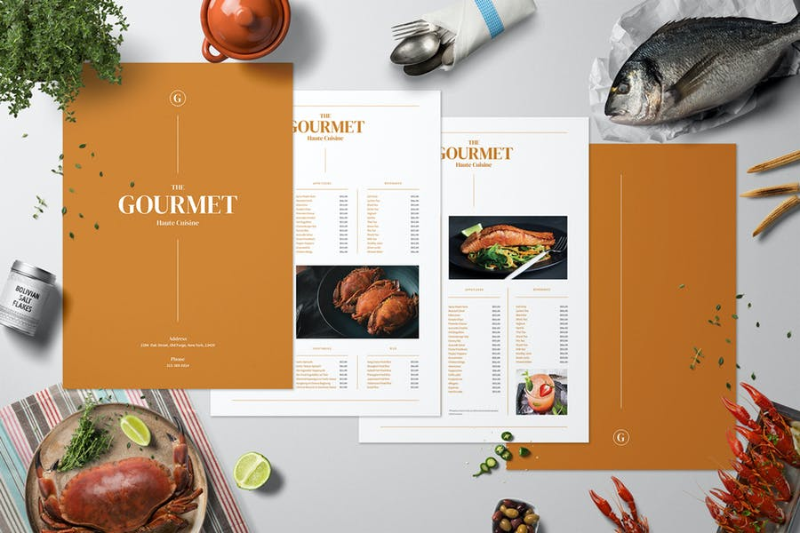 Complete Restaurant Menu Set
