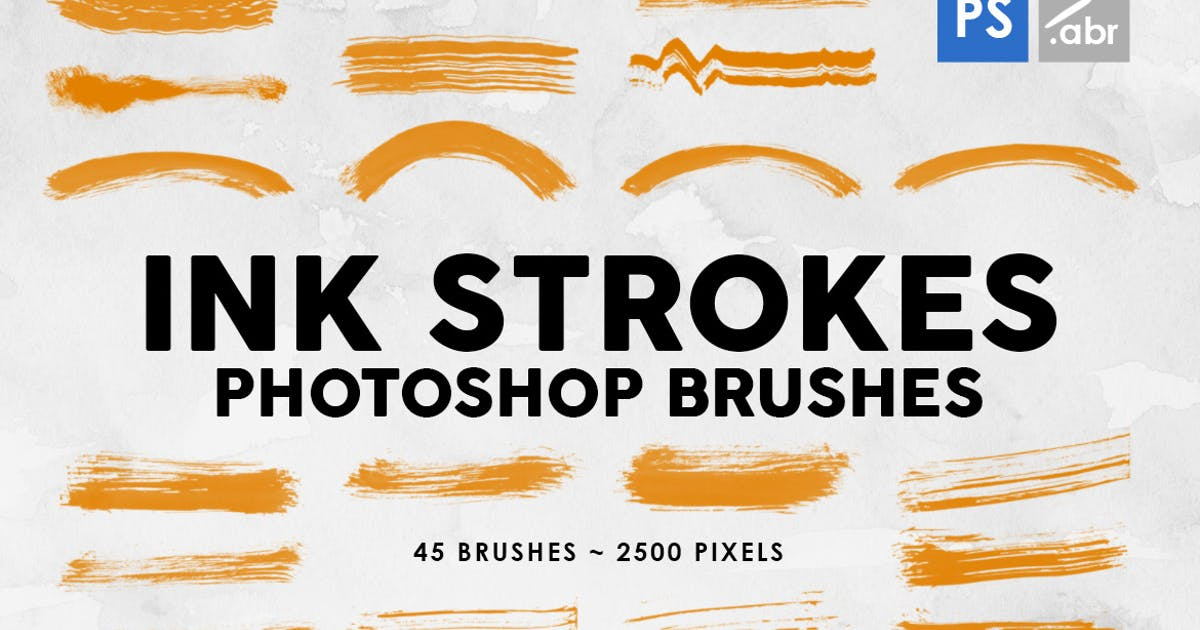 Download 45 Ink Strokes Photoshop Stamp Brushes by M-e-f