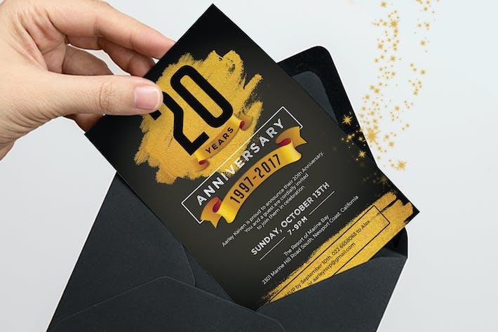Cover Image For Gold Anniversary Invitation