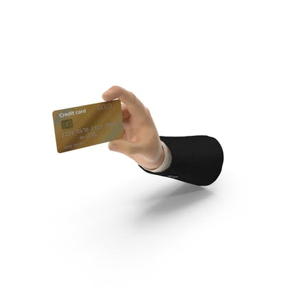 Suit Hand Holding a Credit Card