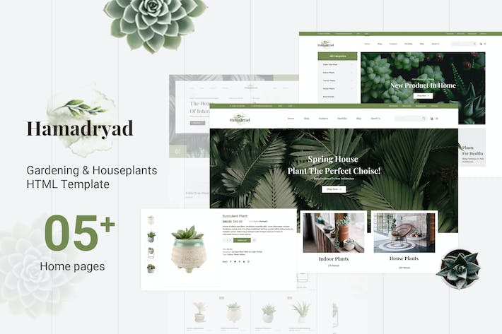 Thumbnail for Hamadryad | Gardening & Houseplants HTML Template