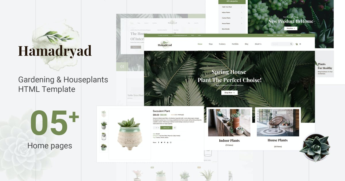 Download Hamadryad | Gardening & Houseplants HTML Template by EngoTheme