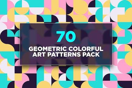 70 Geometric Colorful Art Patterns Pack