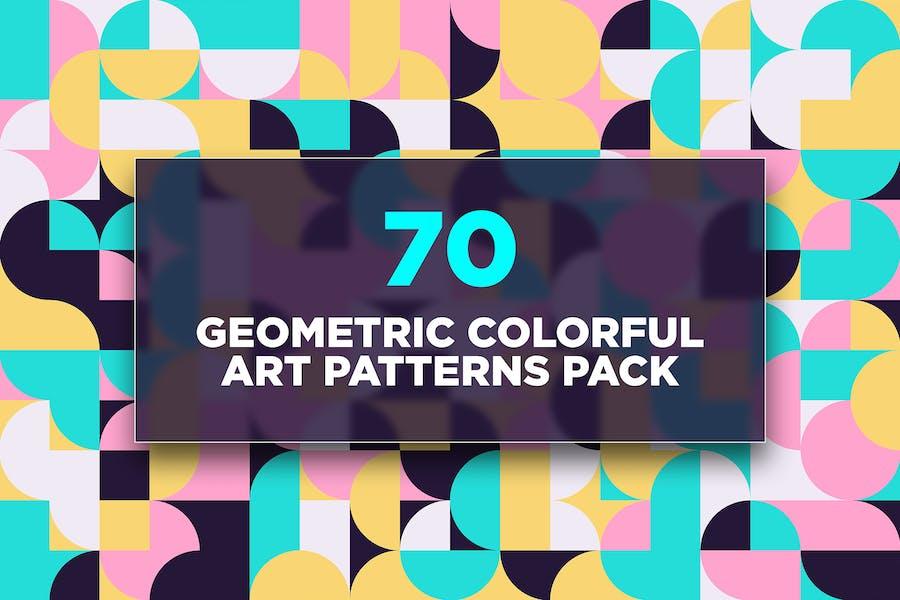 70 geometrische bunte Kunstmuster Pack