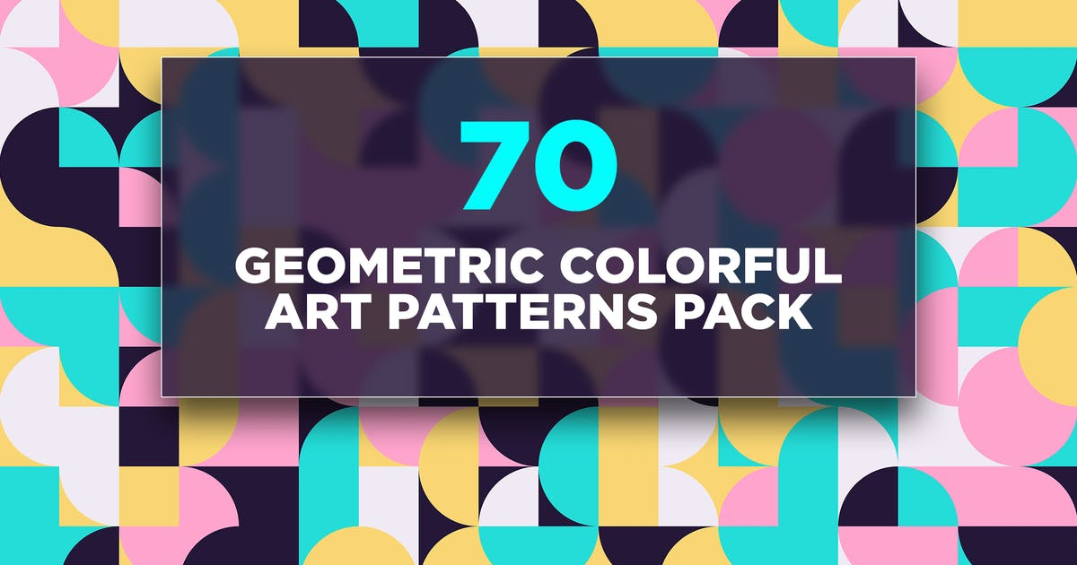 Download 70 Geometric Colorful Art Patterns Pack by traint
