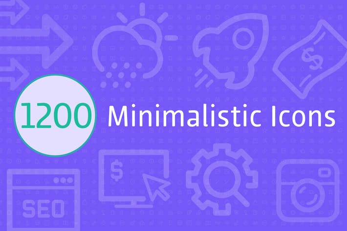 Thumbnail for 1200 Minimalistic Icons