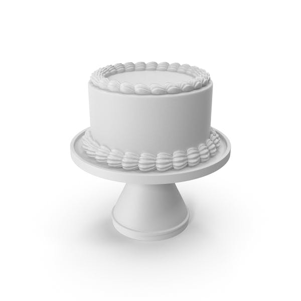 Thumbnail for White Round Cake on a Stand