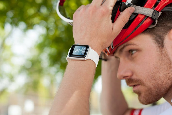Thumbnail for Cycling Apple Watch Mockup 3 of 5