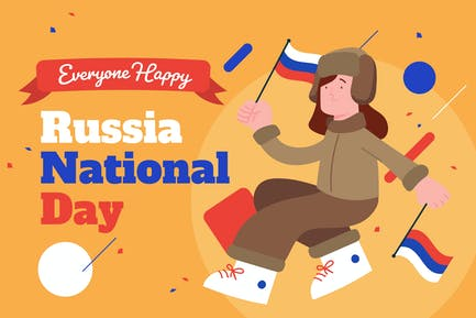 Celebration National Day of Russia - Illustration