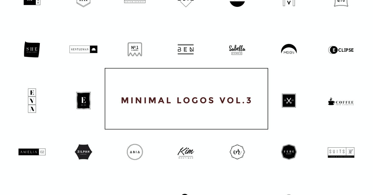 Download 50 Minimal Logos Vol.3 by Zeppelin_Graphics
