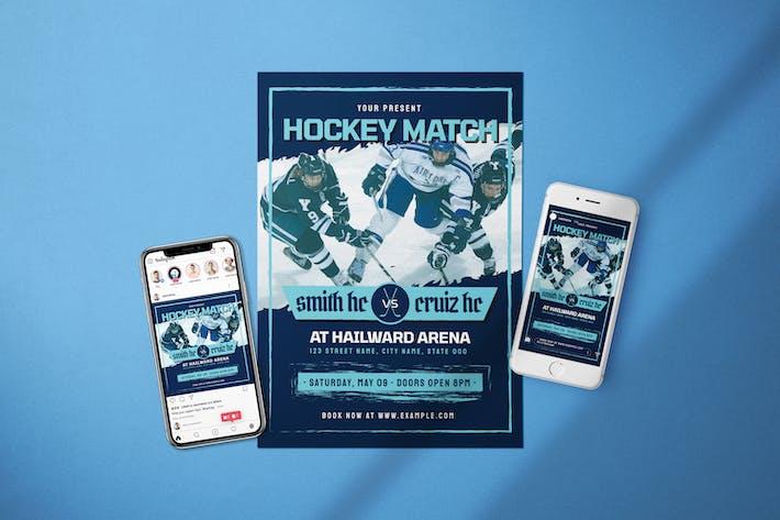 Thumbnail for Хоккейный матч - Флаер Media Kit