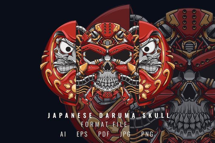 Japanese Daruma Skull