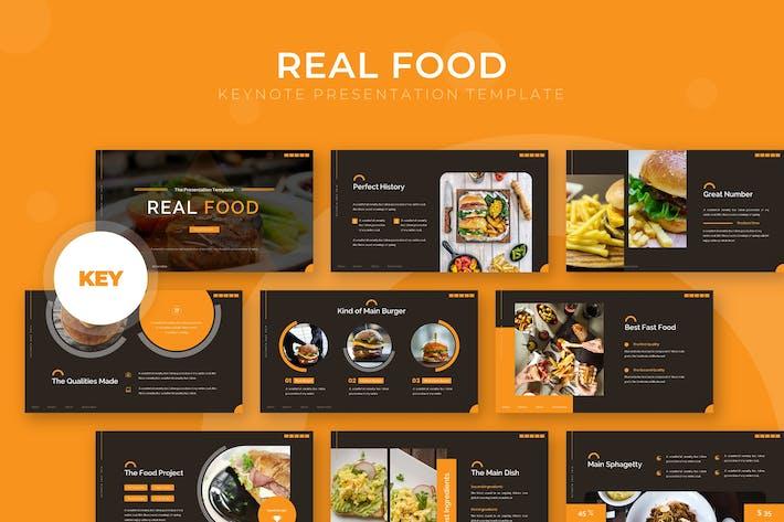 Thumbnail for Real Food - Keynote Template