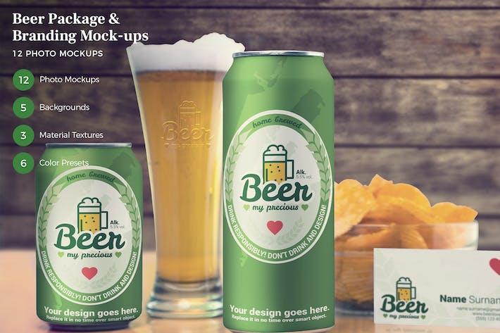 Beer Package & Branding Mock-ups