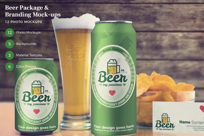 Thumbnail for Beer Package & Branding Mock-ups