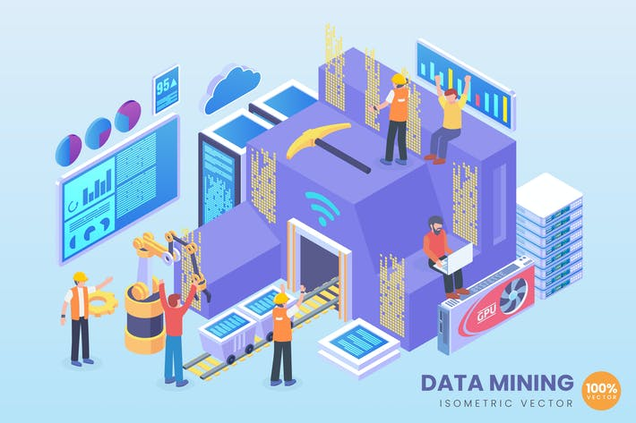 Thumbnail for Isometric Data Mining Vector Concept