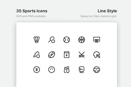 Sport-Line-Icons