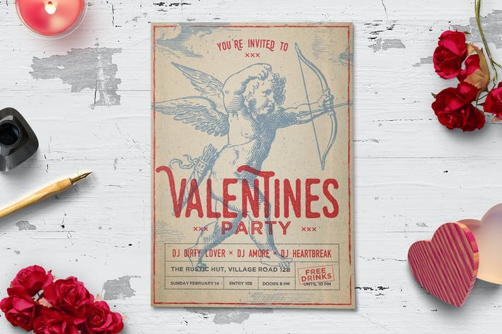 Thumbnail for Vintage Valentine's Day Flyer
