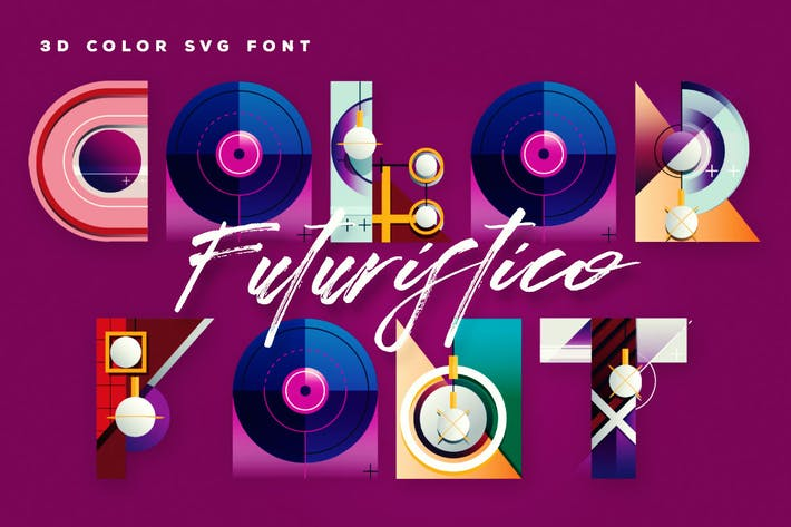 Cover Image For Futuristico Color Font