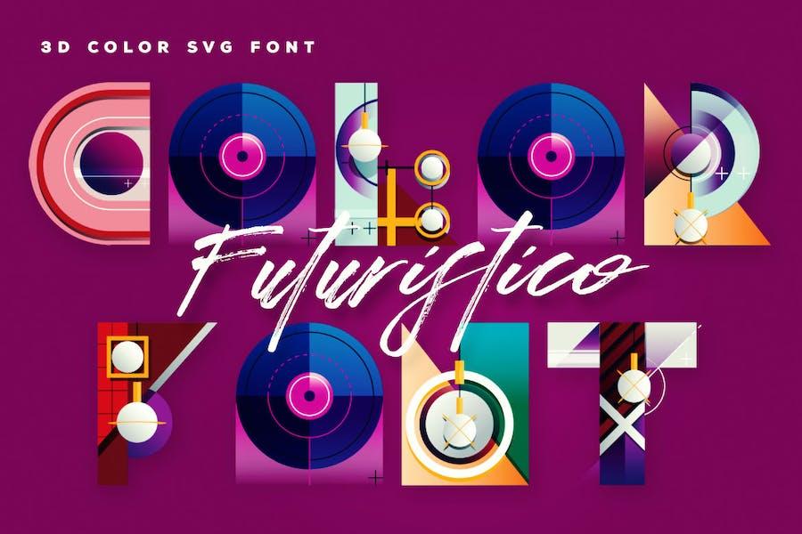 Futuristico Color Font