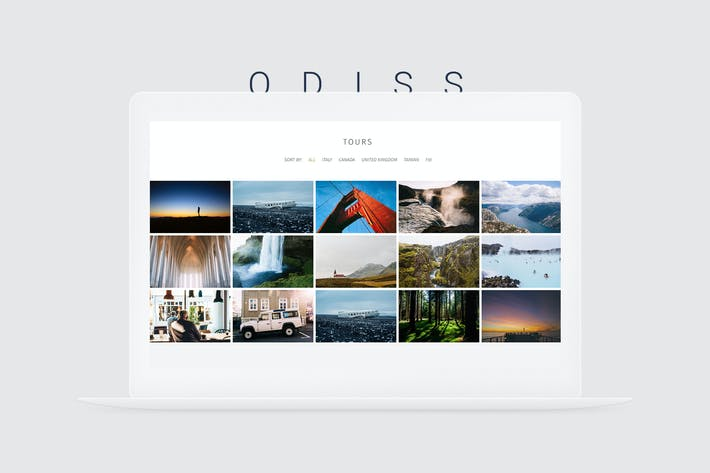 Thumbnail for Odiss - Travel Booking Landing Page