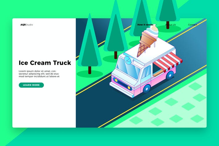 Thumbnail for Ice Cream - Banner & Landing Page