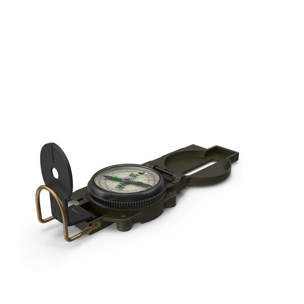 Brújula multifunción de bolsillo del ejército
