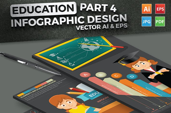 Thumbnail for Education Infographics Part 4 Design