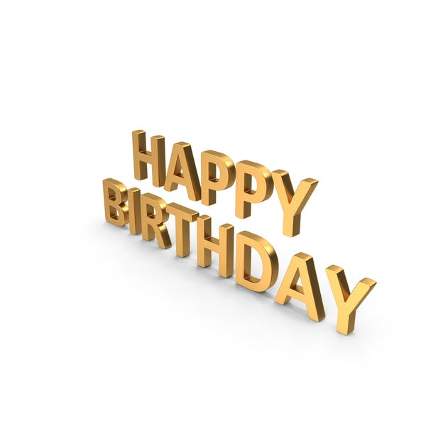 Thumbnail for Alles Gute zum Geburtstag Symbol Gold