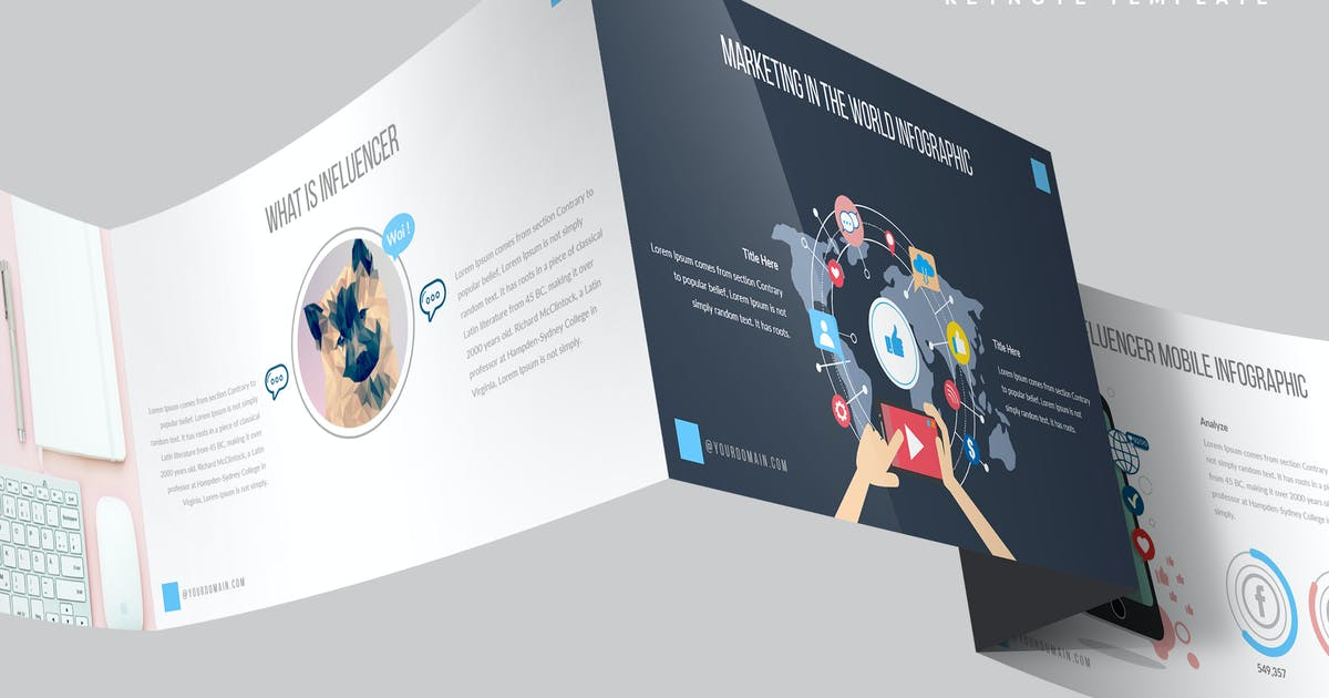 Sosmed Keynote Template by Unknow