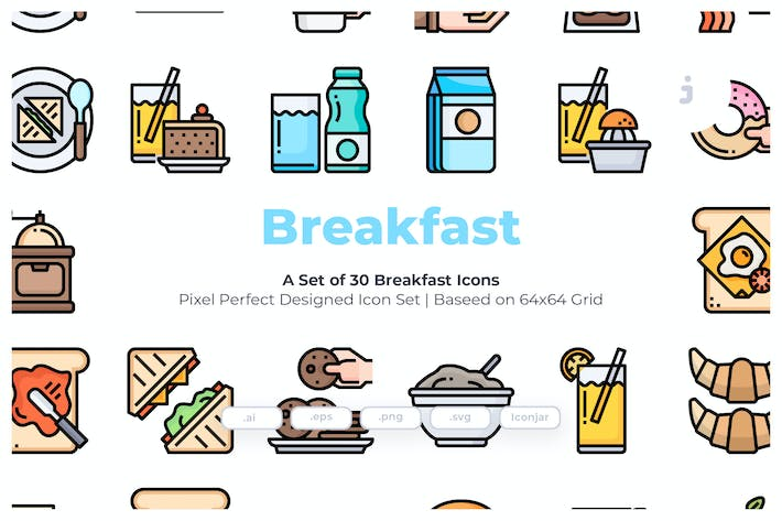 Thumbnail for 30 Breakfast Icons