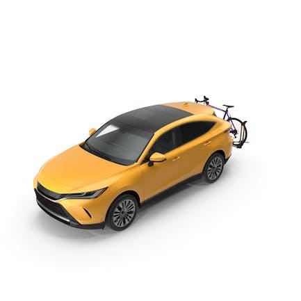 Hybrid SUV mit Fahrradträger Aluminium-Plattform Rennrad