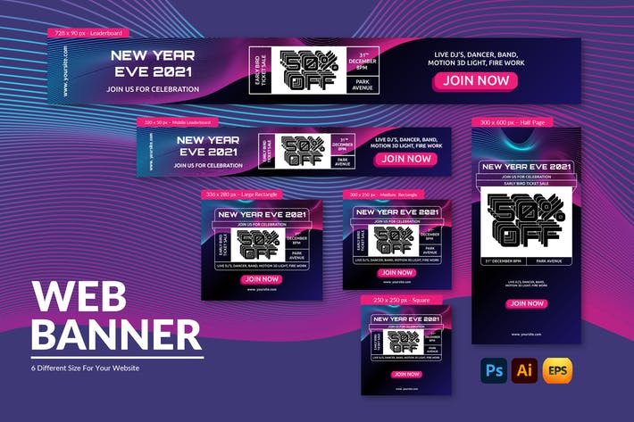 New Year | Web Banner