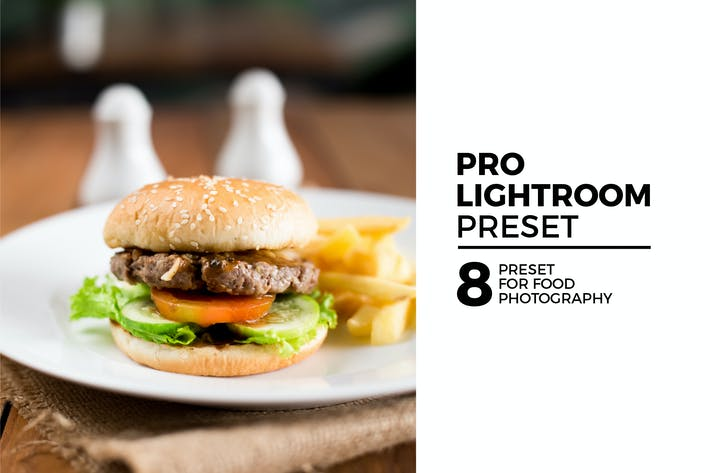 Thumbnail for 8 Pro Lightroom Preset for Food Photography