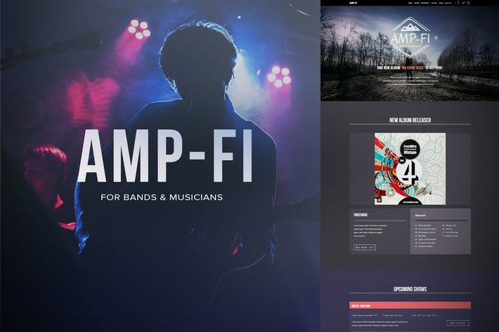 Thumbnail for Amp-fi / Music Band Muse Template for Musicians