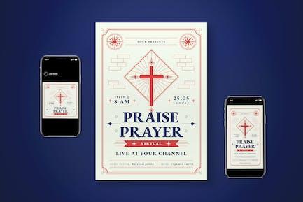 Virtual Church Flyer Set