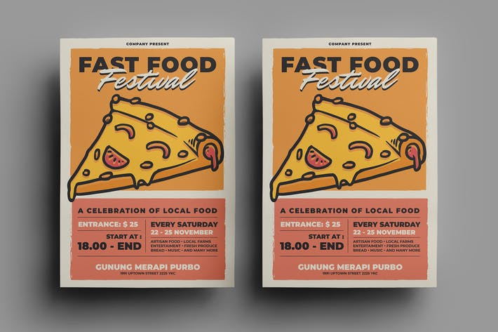 Thumbnail for Fast Food Flyer Design.21