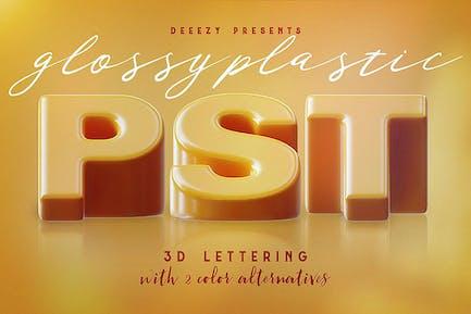 Glossy Plastic – 3D Lettering