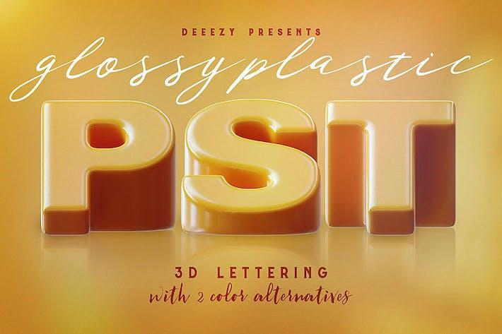Thumbnail for Glossy Plastic – 3D Lettering