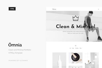 Omnia - Clean and Minimal Portfolio Vorlage