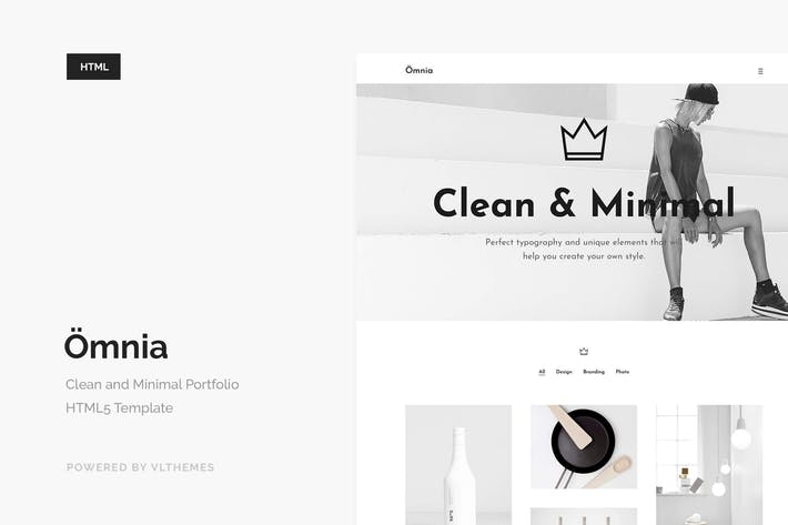 Omnia - Clean and Minimal Portfolio Template