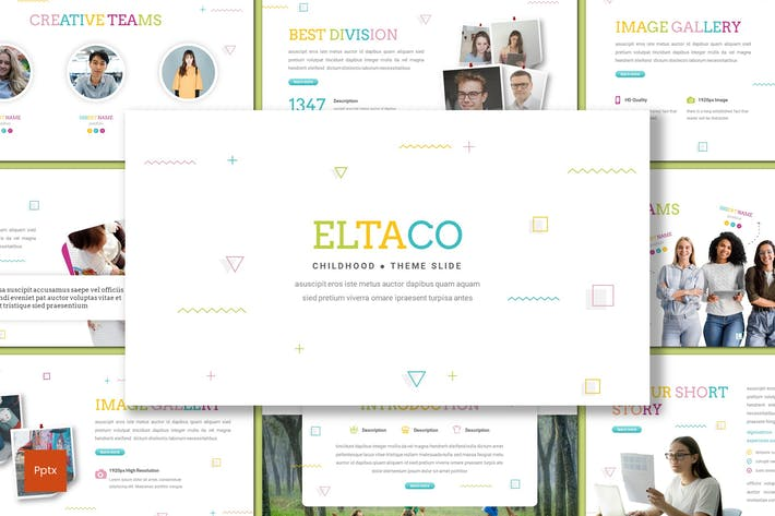 Eltaco - Childhood Powerpoint Template