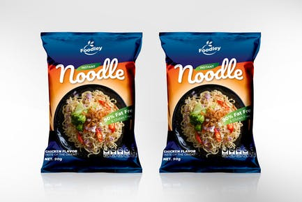 Noodle Packaging Template