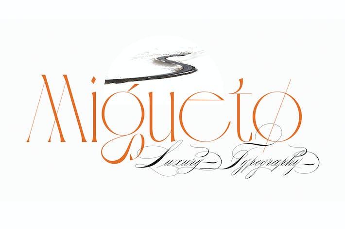 Migueto   Шрифт с засечками