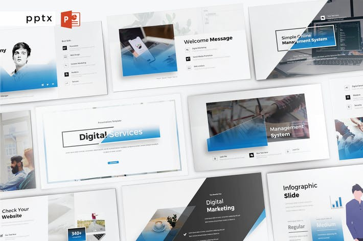 Thumbnail for DIGITALE SERVICES - Powerpoint V359