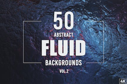 50 Abstract Fluid Backgrounds - Vol. 2